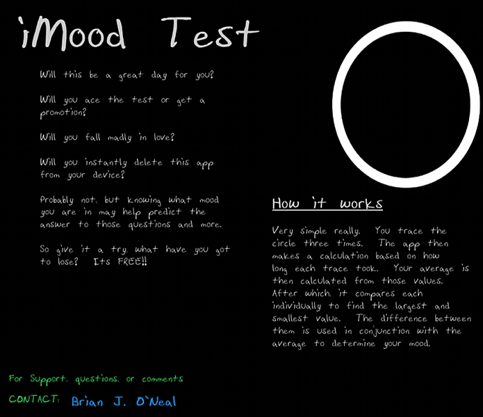 Info about iMood Test